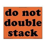 8in x 10in Do Not Double Stack Labels, Sheeted, 250/pack