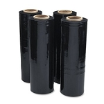18in x 1500ft 80 Gauge Black Cast Stretch Film 4RL/Case