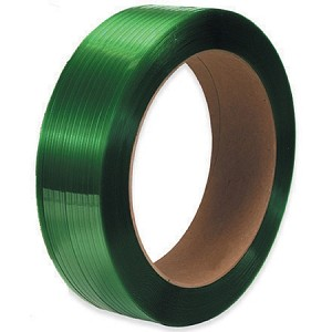 "1/2"" x .028 x 6500' Green Polyester Strapping 800# 16 x 6 Core"